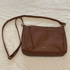 Brown relic crossbody purse